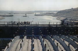 FILE - Tabqa dam at Ar-Raqqah, Syria during inauguration in 1973.