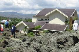 Hundreds of houses in Petobo, in the southern part of Palu, Central Sulawesi, were swallowed into the ground because of liquefaction phenomenon.