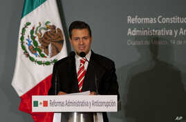 Mexico's President-elect Enrique Pena Nieto delivers a speech during an event in Mexico City, November 14, 2012.