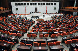 FILE - Turkey's parliament in Ankara.