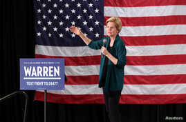 Democratic 2020 U.S. presidential candidate and U.S. Senator Elizabeth Warren speaks to supporters in Memphis, Tennessee, March 17, 2019.