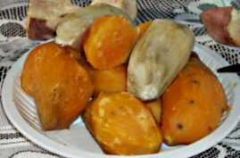 The International Potato Center promotes the health benefits of orange flesh sweet potatoes in fighting vitamin A deficiency.