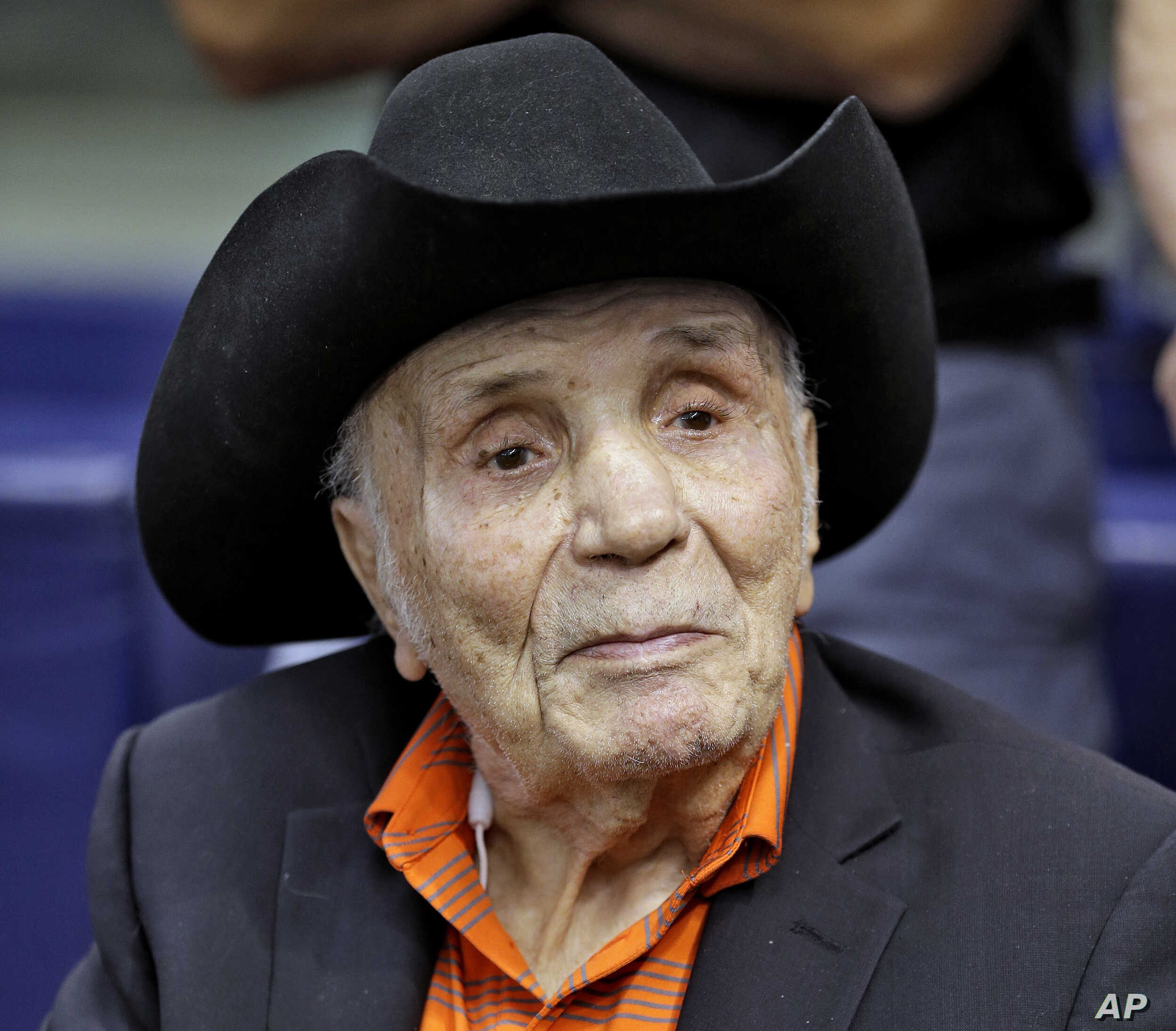 FILE - Jake LaMotta watches batting practice before a baseball game between the Tampa Bay Rays and the New York Yankees, in St. Petersburg, Florida, Sept. 15, 2015.