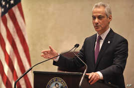 Chicago Mayor Rahm Emanuel speaks during a special City Council meeting that he called to discuss a police abuse scandal, Dec. 9, 2015, in Chicago, Illinois.
