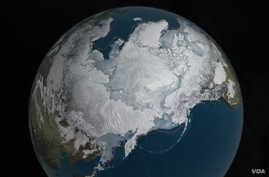 Arctic sea ice was at a record low wintertime maximum extent for the second straight year. At 5.607 million square miles, it is the lowest maximum extent in the satellite record, and 431,000 square miles below the 1981 to 2010 average maximum extent.