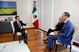 Mexican Economy Minister Ildefonso Guajardo speaks during an interview at Reuters Latin American Investment Summit in Mexico City, Mexico August 8, 2017.