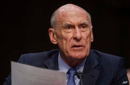 Director of National Intelligence Dan Coats testifies before the Senate Armed Services Committee on Capitol Hill in Washington, March 6, 2018.