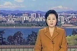 North Korean television broadcast