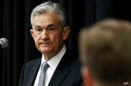 Federal Reserve Chairman Jerome Powell, listens to a attendee's question following his address to a rural policy forum at historically black Mississippi Valley State University in Itta Bena, Mississippi, Feb. 12, 2019.