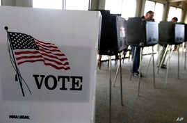 FILE -  voters cast their ballots in the Illinois primary in Hinsdale, Ill.