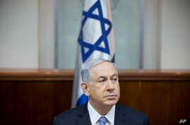 Israeli Prime Minister Benjamin Netanyahu attends a weekly cabinet meeting in Jerusalem, Jan. 4, 2015.