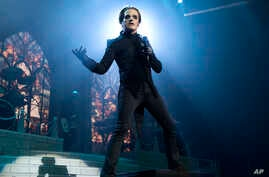 Tobias Forge as Cardinal Copia performs in concert with the band Ghost during the MMRBQ at the BB&T Pavilion on Saturday, May 19, 2018, in Camden, N.J.
