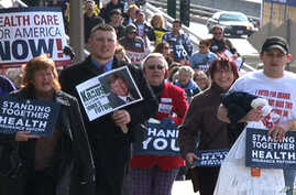 Supporters of health care reform in Iowa, 25 Mar 2010