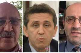 Prominent Iranian lawyers have rebuked Iran's government for announcing a list of  20 attorneys allowed to handle national security cases. From right to left, Iran Bar Association head Isa Amini (photo by Tasnim), and Tehran-based lawyers Hossein Ahm