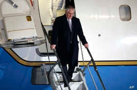 U.S. Secretary of State Rex Tillerson arrives at Haneda International Airport in Tokyo, as the first stop of his tour to Asia, Wednesday, March 15, 2017.