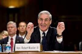 Then FBI Director Robert Mueller testifies on Capitol Hill in Washington, June 19, 2013, before the Senate Judiciary Committee.