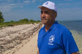 Jean Wiener is seen on a beach off the northwest coast of Haiti, near the recently established Marine Protected Area in Caracol Bay. (Photo: Goldman Environmental Prize)