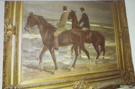 """""""Two Horsemen at the Beach"""" by German artist Max Liebermann was one of the paintings found in a Munich apartment in 2011."""