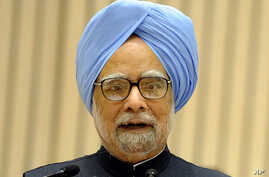 "Indian Prime Minister Manmohan Singh called malnutrition in the country ""a national shame"" on Tuesday as he released a major survey that found 42 percent of children under five were underweight, January 10, 2012. (AFP)"