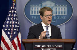 White House Press Secretary Jay Carney speaks during his daily news briefing at the White House in Washington, May 6, 2013.