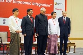 Introductory session of the India-Myanmar Business Conclave, Yangon, March 22. (B. Dunant for VOA)