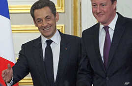 British, French Leaders Call on Syria's Opposition to Unify