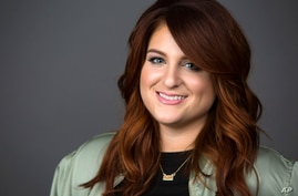 """Singer Meghan Trainor poses for a portrait in New York to promote her new hit single, """"No,"""" March 9, 2016."""