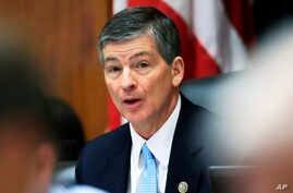 House Financial Services Committee Chairman Jeb Hensarling, R-Texas, speaks on Capitol Hill in Washington, May 2, 2017, during the committee's hearing on overhauling the nation's financial rules.