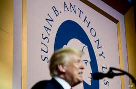President Donald Trump speaks at the Susan B. Anthony List 11th Annual Campaign for Life Gala at the National Building Museum, May 22, 2018, in Washington.