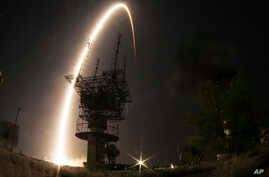 The Soyuz-FG rocket booster with Soyuz TMA-13M space ship carrying a new crew to the International Space Station, ISS, blasts off at the Russian - leased Baikonur cosmodrome, Kazakhstan, May 29, 2014.