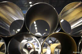 FILE - Pipes made for the South Stream pipeline — a projec