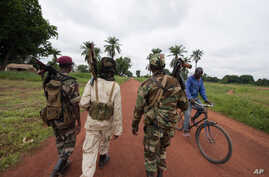 Seleka rebels, seen here July 15, 2013, in the town of Bria, Central African Republic. overthrew the previous president in March, and are accused of continuing to carry out atrocities in some of the most isolated corners of the country.