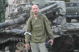 Journalist Arkady Babchenko is seen in an undated photo for his Facebook page.