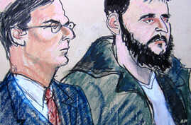 In this Jan. 9, 2010 courtroom file sketch, defendant Adis