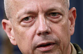 Marine Gen. John Allen, the top U.S. commander in Afghanistan speaks during a news conference at the Pentagon,  March 26, 2012.