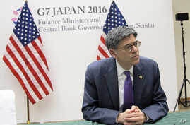 U.S. Treasury Secretary Jacob Lew talks to reporters during a press briefing in Sendai, Japan, May 20, 2016. Top finance officials of the Group of Seven industrialized economies kicked off their two-day meeting over discussions on revitalizing the gl