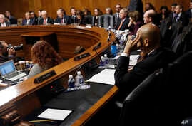 The Senate Judiciary Committee conducts business on the nomination of Supreme Court nominee Judge Brett Kavanaugh, Sept. 28, 2018, on Capitol Hill in Washington.