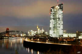 FILE - The headquarters building of the European Central Bank is seen in Frankfurt, Germany, in a Nov. 17, 2014, photo.