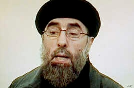"""FILE - Afghan rebel leader Gulbuddin Hekmatyar is seen in this photo grab from a video received by Associated Press Television in Karachi, Pakistan. Seeking to gain new leverage, the notorious Afghan warlord who was designated a """"global terrorist"""" by"""