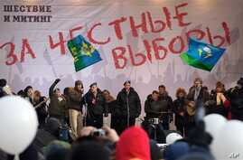 Band of former Soviet paratroopers performing anti-Putin song got more than 1 million views on YouTube, Moscow, Feb. 4, 2012.