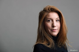 "A photo of Swedish journalist Kim Wall who was aboard a submarine ""UC3 Nautilus"" before it sank"