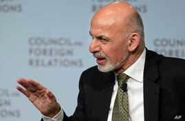 Afghan President Ashraf Ghani speaks at the Council of Foreign Relations in New York, March 26, 2015.