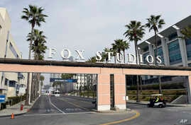 The exterior of Fox Studios is pictured, March 19, 2019, in Los Angeles.