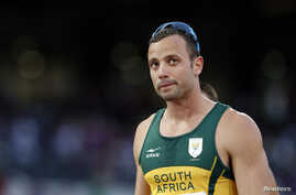South Africa's Oscar Pistorius is seen after a race in London September 5, 2012.