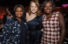 Oscar nominees Octavia Spencer, Emma Stone and Viola Davis at the Oscar Nominees Luncheon in Los Angeles, California.
