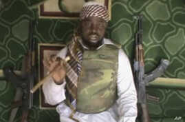 This file image taken from video posted by Boko Haram sympathizers made available on Wednesday, Jan. 10, 2012 shows Imam Abubakar Shekau, the leader of the radical Islamist sect Boko Haram.
