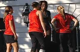 Michele Obama Promotes Fitness on White House Lawn