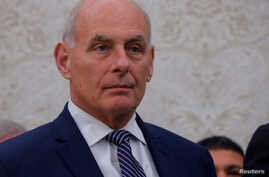 White House Chief of Staff John Kelly attends an Oval Office meeting between U.S. President Donald Trump and Italian Prime Minister Giuseppe Conte at the White House in Washington, July 30, 2018.