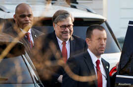 U.S. Attorney General William Barr leaves his house after Special Counsel Robert Mueller found no evidence of collusion between U.S. President Donald Trump's campaign and Russia in the 2016 election in McClean, Virginia, U.S., March 25, 2019.