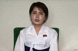 This undated screen grab taken on July 19, 2017, from video posted by www.uriminzokkiri.com shows North Korean defector Lim Ji-Hyun, who appeared in several South Korean TV shows featuring North Korean refugees after settling in Seoul in 2014, speaki